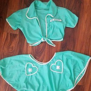 Mint green Dr. Naughty costume lingerie